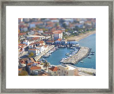 Framed Print featuring the photograph Miniature Port by Vicki Spindler
