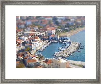 Miniature Port Framed Print by Vicki Spindler
