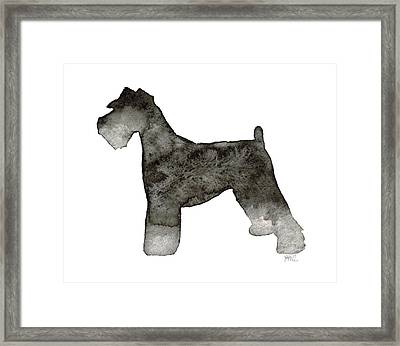 Miniature Schnauzer Framed Print by Laura Bell