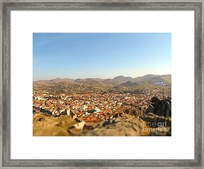 Miniature Town Framed Print by Vicki Spindler