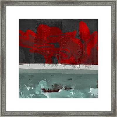 Minima - Floral 01rbg Framed Print by Variance Collections