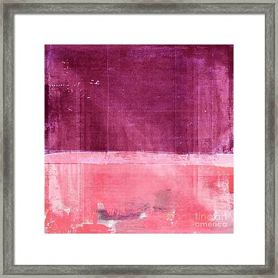 Minima - S02b Pink Framed Print by Variance Collections