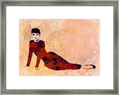 Minimal Audrey Hepburn Framed Print by Georgiana Romanovna