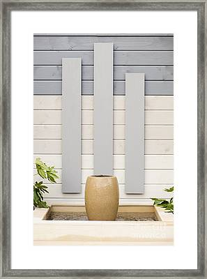 Minimal Gardening Framed Print by Anne Gilbert