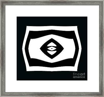 Minimalism Black White Geometric Abstract Art No.284. Framed Print by Drinka Mercep