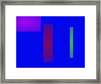 Minimalism Blue Framed Print by Masaaki Kimura