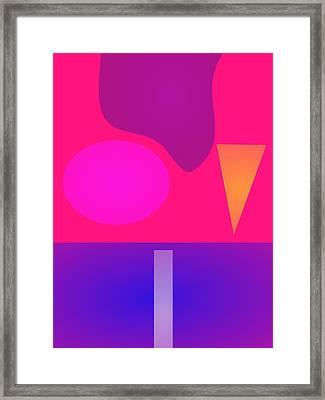 Minimalism Continents Framed Print by Masaaki Kimura