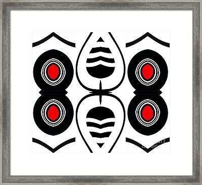Minimalism Geometric Abstract Black White Red Art No.388.  Framed Print by Drinka Mercep