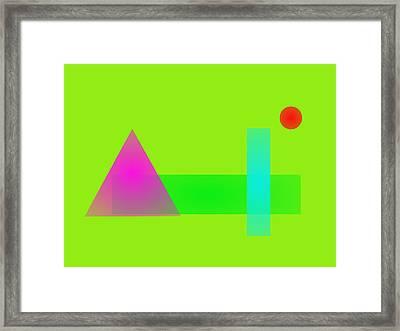 Minimalism Grass Green Framed Print by Masaaki Kimura
