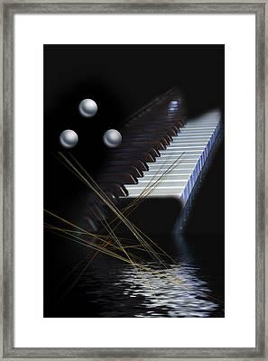 Minimalism Piano Framed Print