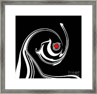 Minimalism Art Black White Red Abstract Art Print No.170. Framed Print by Drinka Mercep