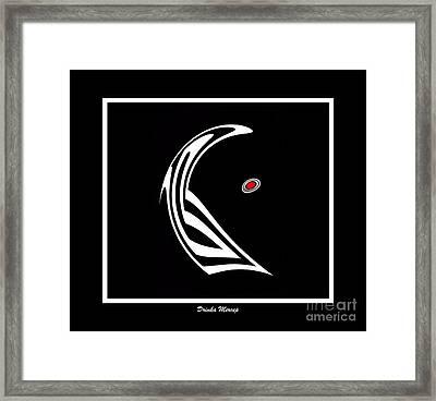 Minimalist Art Black White Red No.12 Framed Print by Drinka Mercep