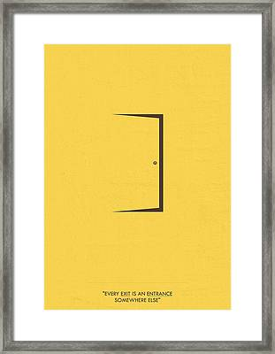 Minimalist Art Quotes Poster Framed Print