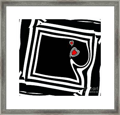 Minimalist Black White Red Art No.95. Framed Print by Drinka Mercep