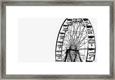 Minimalist Ferris Wheel Framed Print by Jon Woodhams