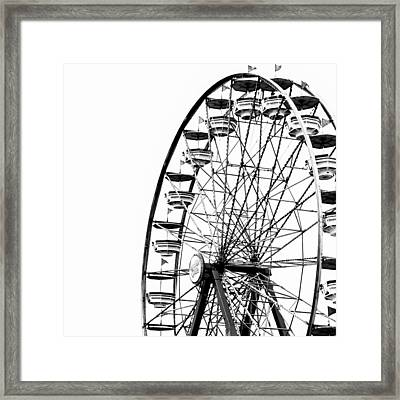 Minimalist Ferris Wheel - Square Framed Print by Jon Woodhams