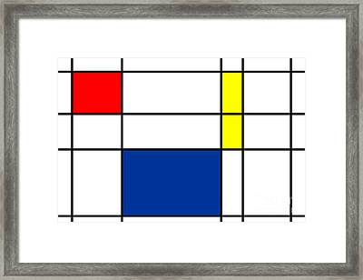 Minimalist Mondrian Framed Print by Celestial Images