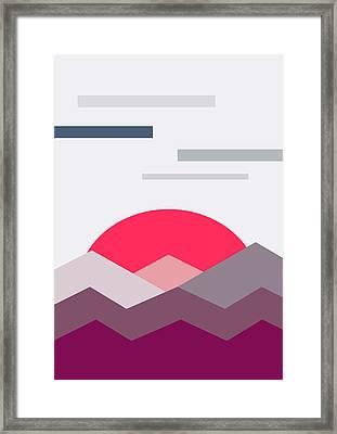 Minimalistic Landscape Framed Print