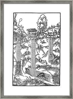 Mining, 1556 Framed Print by Granger