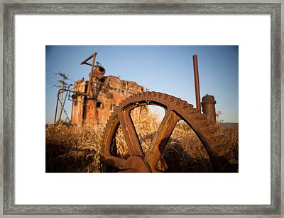 Mining Artefacts Historical Antique Machinery Framed Print by Dirk Ercken