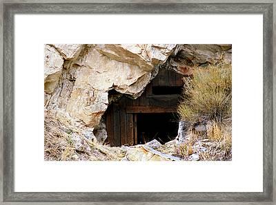 Mining Backbone Framed Print by Minnie Lippiatt