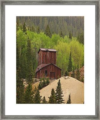Mining Building In Colorado Framed Print by Dan Sproul