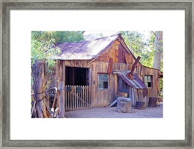 Mining Cabin Framed Print by David Rizzo