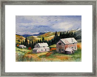 Mining Days Over Framed Print by Marilyn Smith