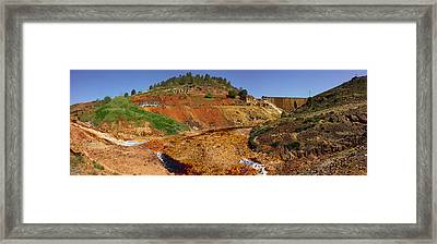 Mining Effects On Landscape At Rio Framed Print by Panoramic Images