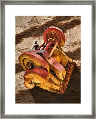 Mining Hoist Framed Print by JoAnne Rauschkolb