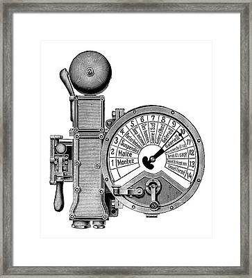 Mining Order Telegraph Framed Print by Science Photo Library