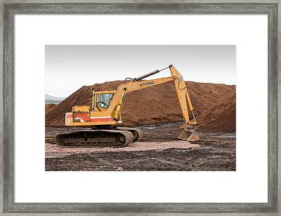 Mining Peat From A Raised Peat Bog Framed Print by Ashley Cooper
