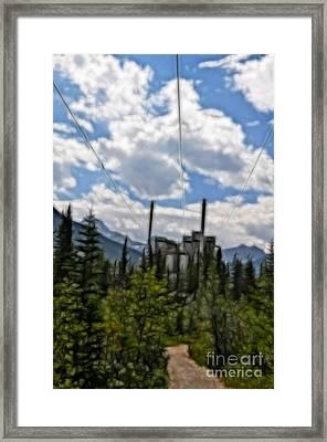 Mining Plant Fractal Framed Print