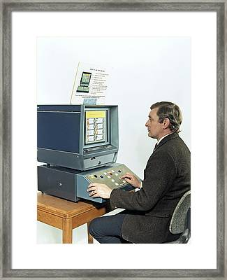 Mining Safety Survey Machine Framed Print