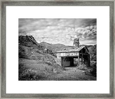 Mining Structures Darwin Hills Ca Framed Print by Troy Montemayor