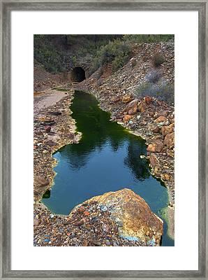 Mining Tunnel Entrance Framed Print by Pablo Romero