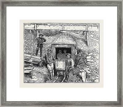 Mining Tunnel, Williams Creek, Cariboo Framed Print