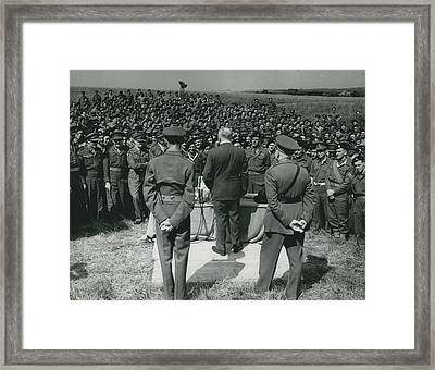 Minister Of Defence Inspects The Territorial�s. Addresses Framed Print by Retro Images Archive