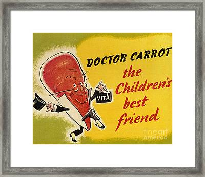 Ministry Of Food 1940s Uk Characters Framed Print