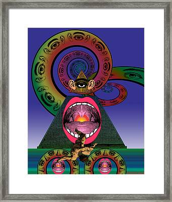 Ministry Of Love Framed Print by Eric Edelman