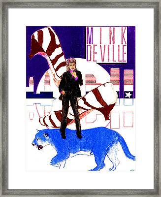 Mink Deville - Le Chat Bleu Framed Print by Sean Connolly