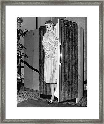Mink Keeps Warm And Cold Framed Print by Underwood Archives