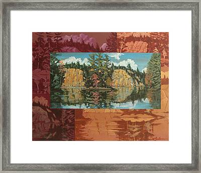 Mink Lake In Fall Framed Print by David Gilmore