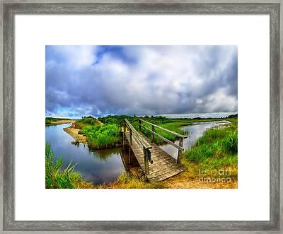 Mink Meadow Bridge Framed Print by Mark Miller