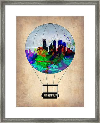 Minneapolis Air Balloon Framed Print