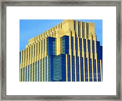 Minneapolis Blue II Framed Print