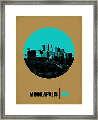 Minneapolis Circle Poster 1 Framed Print by Naxart Studio