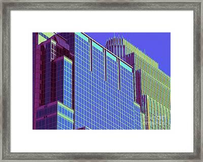 Minneapolis Downtown Blue Framed Print
