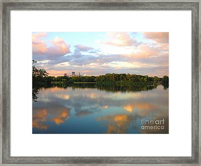 Minneapolis Lakes Framed Print by Heidi Hermes
