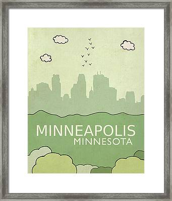 Minneapolis Framed Print by Lisa Barbero